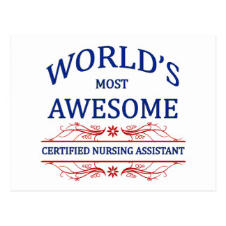 World's Most Awesome Certified Nursing Assistant Post Cards