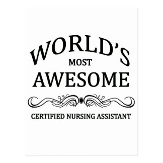 World's Most Awesome Certified Nursing Assistant Postcards