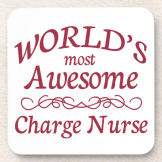 World's Most Awesome Charge Nurse Beverage Coasters
