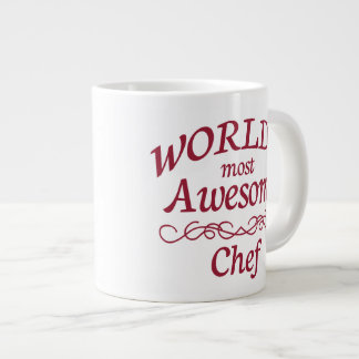 World's Most Awesome Chef 20 Oz Large Ceramic Coffee Mug