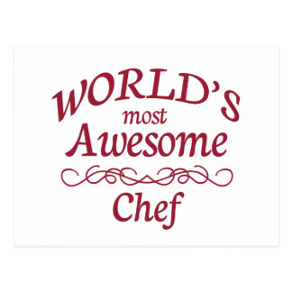 World's Most Awesome Chef Postcard