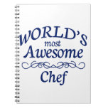 World's Most Awesome Chef Spiral Notebook
