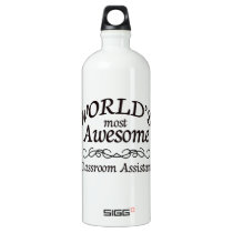 World's Most Awesome Classroom Assistant Aluminum Water Bottle