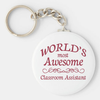 World's Most Awesome Classroom Assistant Keychain