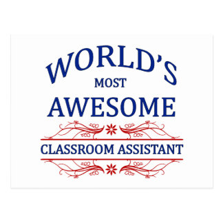 World's Most Awesome Classroom Assistant Postcard