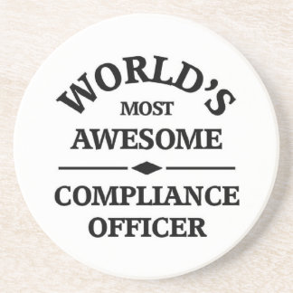 World's most awesome Compliance Officer Beverage Coaster