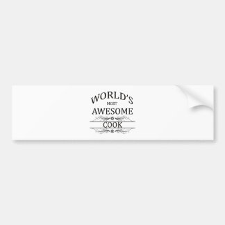 World's Most Awesome Cook Bumper Sticker