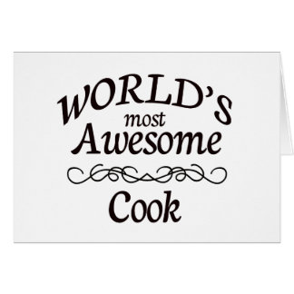 World's Most Awesome Cook Greeting Cards