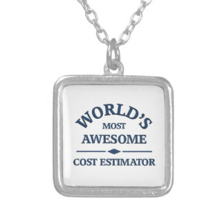World's most awesome Cost estimator Silver Plated Necklace