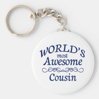 World's Most Awesome Cousin Basic Round Button Keychain