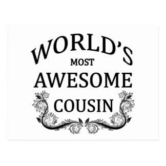 World's Most Awesome Cousin Postcard