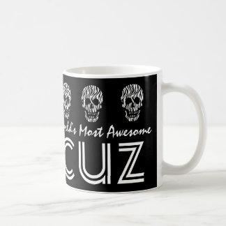 World's Most Awesome COUSIN Zebra Skulls V08 Mug