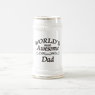 World's Most Awesome Dad 18 Oz Beer Stein