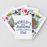 World's Most Awesome Dad Bicycle Playing Cards