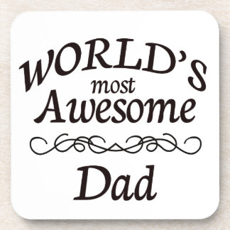 World's Most Awesome Dad Coaster