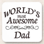 World's Most Awesome Dad Drink Coasters