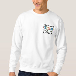 Men's Embroidered Sweatshirt with Embroidered Dad Gifts design