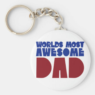 Worlds most awesome Dad Keychain