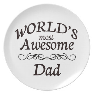 World's Most Awesome Dad Melamine Plate