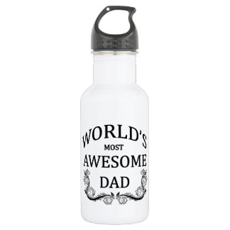World's Most Awesome Dad 18oz Water Bottle