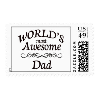 World's Most Awesome Dad Postage