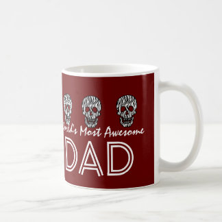 World's Most Awesome DAD Zebra Skulls V09B Coffee Mug