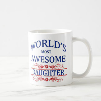 World's Most Awesome Daughter Coffee Mug