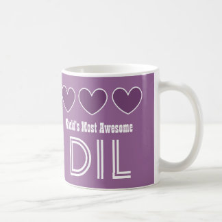 World's Most Awesome DAUGHTER IN LAW Hearts DIL Coffee Mug