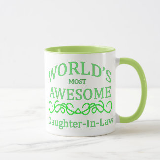 World's Most Awesome Daughter-In-Law Mug