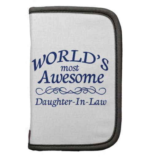 World's Most Awesome Daughter-In-Law Folio Planners