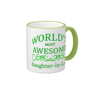 World's Most Awesome Daughter-In-Law Ringer Mug