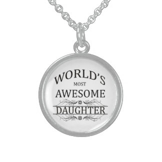 World's Most Awesome Daughter Sterling Silver Necklace