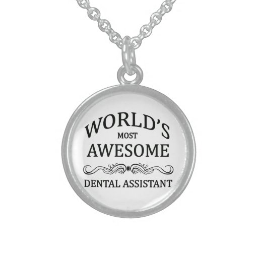 World's Most Awesome Dental Assistant Personalized Necklace