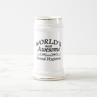 World's Most Awesome Dental Hygienist Beer Stein
