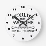 World's Most Awesome Dental Hygienist Wallclocks
