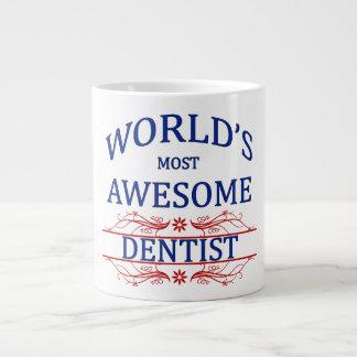 World's Most Awesome Dentist 20 Oz Large Ceramic Coffee Mug