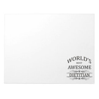 World's Most Awesome Dietitian Notepad