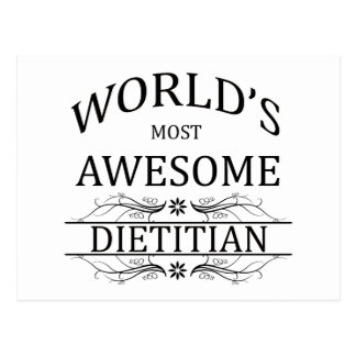 World's Most Awesome Dietitian Postcard