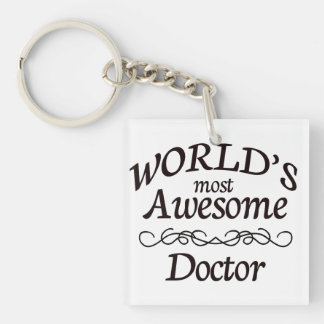 World's Most Awesome Doctor Keychain
