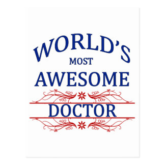 World's Most Awesome Doctor Postcard