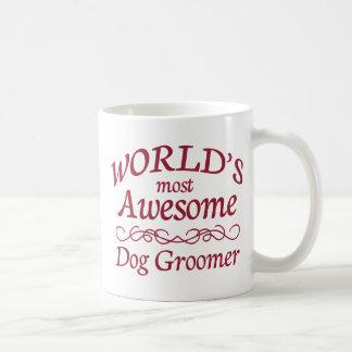 World's Most Awesome Dog Groomer Classic White Coffee Mug
