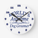 World's Most Awesome Dog Groomer Wallclocks
