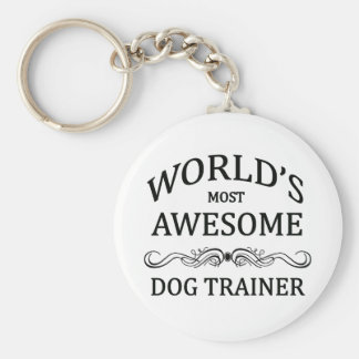 World's Most Awesome Dog Trainer Basic Round Button Keychain