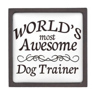 World's Most Awesome Dog Trainer Jewelry Box