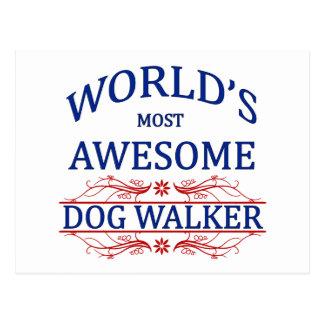 World's Most Awesome Dog Walker Postcard