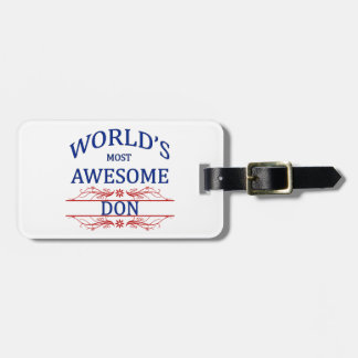 World's Most Awesome DON Luggage Tag