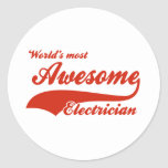 World's Most Awesome electrician Round Stickers