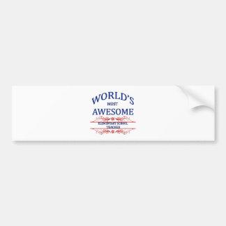 World's Most Awesome Elementary School Teacher Bumper Sticker
