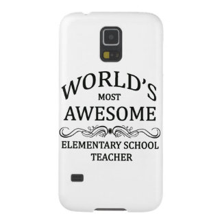 World's Most Awesome Elementary School Teacher Galaxy S5 Cover