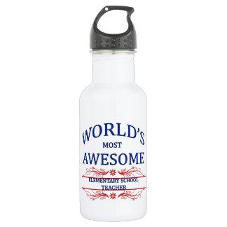 World's Most Awesome Elementary School Teacher 18oz Water Bottle
